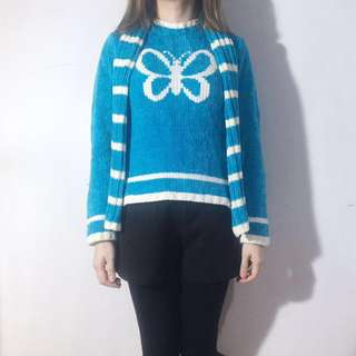 Knit Sweater with Scarf (for winter)