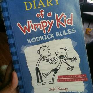 Diary of the wimpy kid book 2 Rodrick Rules