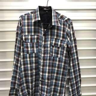 Men Long Sleeve Checkered Shirt