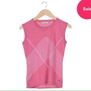 Hush Puppies Pink And White Patterned Sleeveless