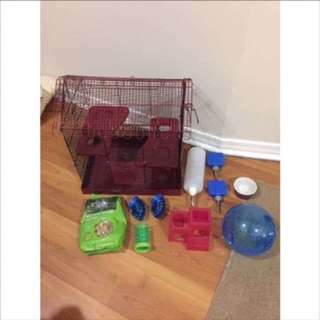 Small animal cage & supplies