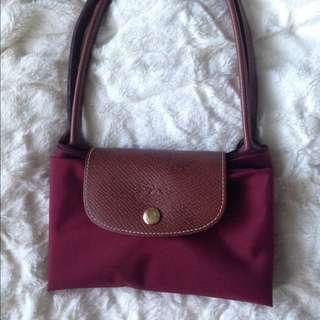 Longchamp Wine Tote Bag