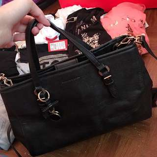 Repriced!Authentic Charles & Keith Bow Detail Tote Bag