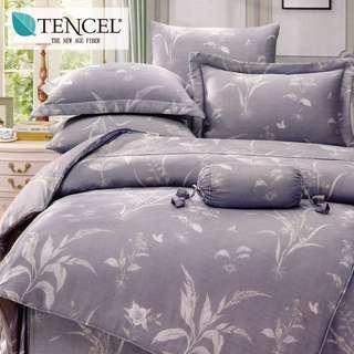 【樂】100%天絲TENCEL 雙人/雙人加大/特大 40支天絲 四件式鋪棉兩用被套床包組&鋪棉兩用被套床罩組(尋秘)