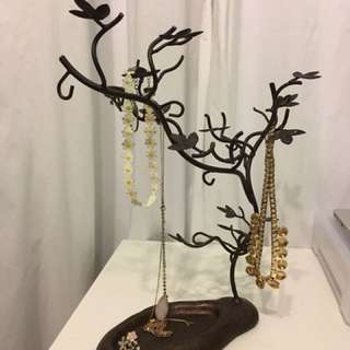 Floral jewellery stand
