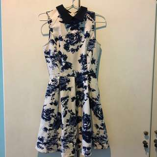 Something Borrowed China Blue Flower Dress