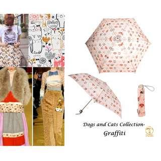 【💠時尚の塗鴉 迷你折疊傘✨-fashion-umbrella🌂】- 科技防曬✨-超強遮光✨-降溫✨-又超輕👍