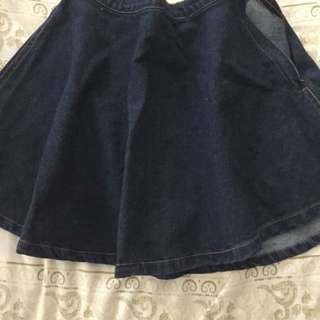 🚚 American Apparel 牛仔短圓裙 S號
