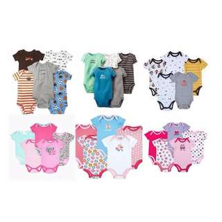 BABY BOY/GIRLS CARTER'S ROMPER (5 PCS IN 1)