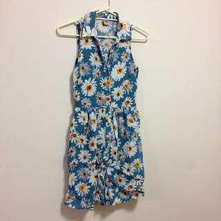 ASOS sunflower Button Up Dress Size 6