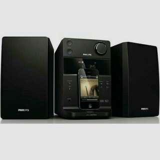 (Repriced) Philips DCM186B/79 Micro Music System with Dock for iPod/iPhone (Black)