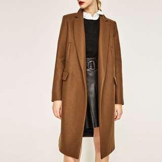 Zara masculine coat (camel)