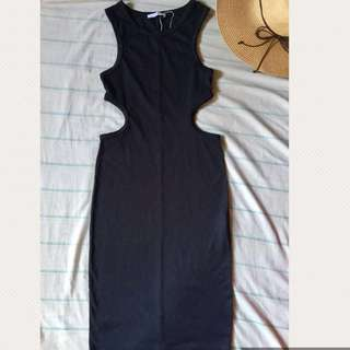 ZARA Trafaluc - Black Side Cutout Dress