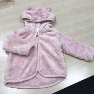 Baby Girl Pink Soft Thermal Fleece Hooded Jacket