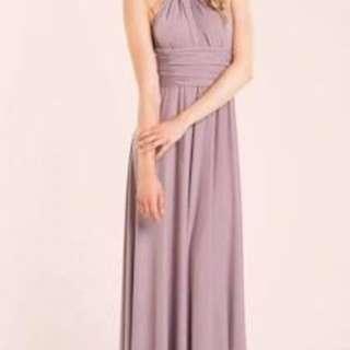 Dusky Pink/Mauve Infinity dress