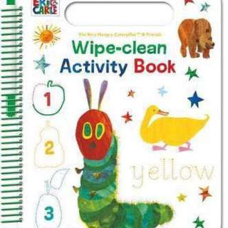 The very hungry caterpillar 🐛 wipe-clean activity book