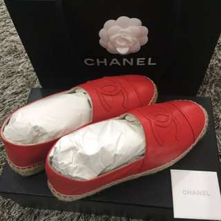 Chanel Espadrilles in Red Orange