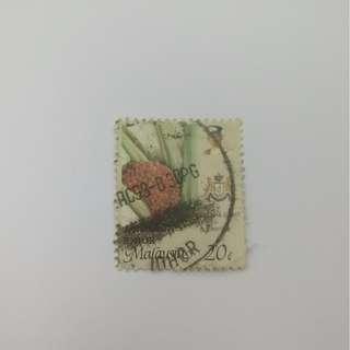 Stamps 20 Cent Johor Malaysia