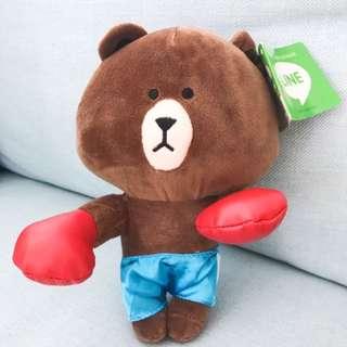 Line Bear Plush Toy (boxer style)