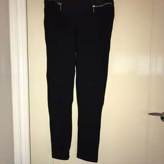 Zara black basic pants