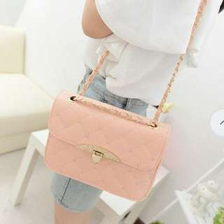 Pink Quilted Purse
