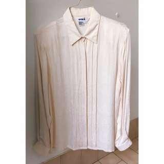 Dreamy Vintage White Lace Patterned Blouse