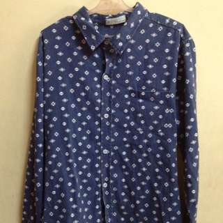 Slim Fit Polka Dots Long Sleeves Polo For Men