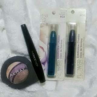 ALMAY Eyesgadow, THEFACESHOP Mascara, 2 FLOWERBEATY Eyeshadow Chubbies❤