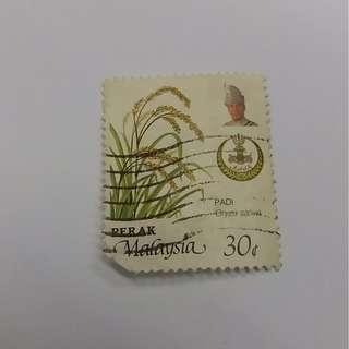 Stamps 30 Cent Perak Malaysia