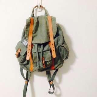 丨降🔻WEMUG 帆布皮革後背包丨#我有後背包要賣