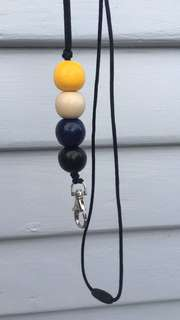 Handmade beaded lanyard
