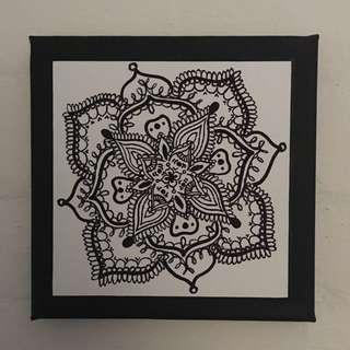 Mandala small canvas print