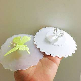 Suctioned cup cover - 3D Jewel & Butterfly design