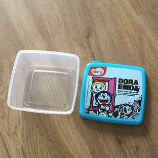 Doraemon cute blue Tupperware food container