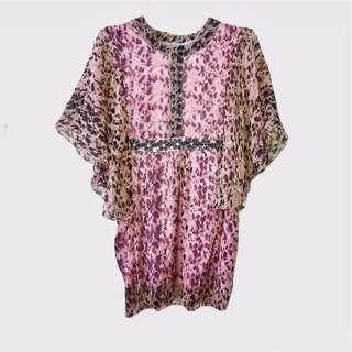 Baju blouse pink motif