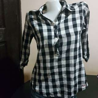 STREET JEANS Checkered Top