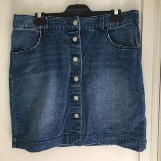 Denim H&M skirt