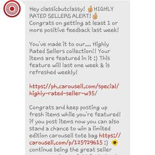 THANK YOU CAROUSELL 😍😍😍