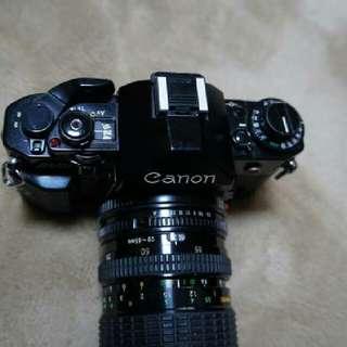 canon a1 底片 單眼相機 fd sigma 鏡頭 ,28 70mm