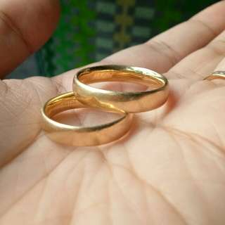 18k saudi wedding/couple ring yellow gold