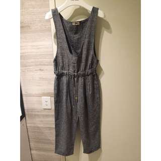 Grey Jumpsuit / Playsuit / Romper Small