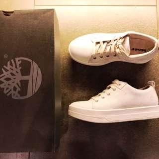 Timberland 白色厚底休閒牛津鞋 Us6.5