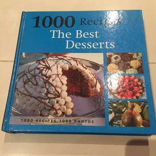 1000 Recipes Book for Dessert and baking