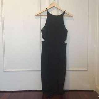 Black bodycon cutout dress