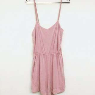 #CNY88 [PL] Hook Clothing Dusty Pink/Blush Jumpsuit