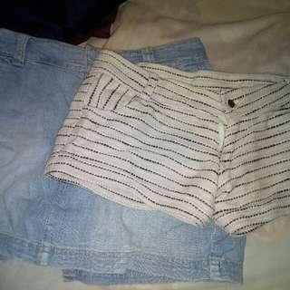 bundle of skirt & shorts