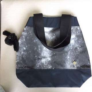 Kipling x Peter Pilotto Alhena Milkyway Black Shoulder Bag