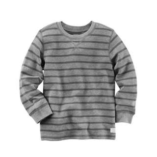 Authentic Carter's Long-Sleeve Striped Thermal Tee