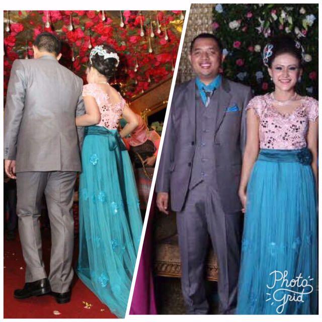 1 set gaun pengantin pria dan wanita