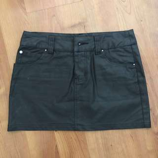 Mink pink minkpink coated leather look skirt 8 small